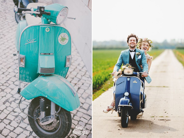 Wedding Scooter | Confetti.co.uk