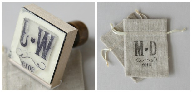 DIY personalised vineyard rubber stamp | Confetti.co.uk