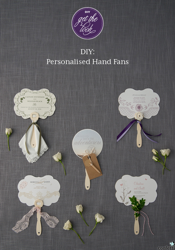 DIY Personalised Hand Fans   Confetti.co.uk