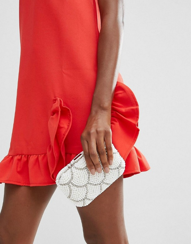 New Look pearl sparkle clutch bag | Confetti.co.uk