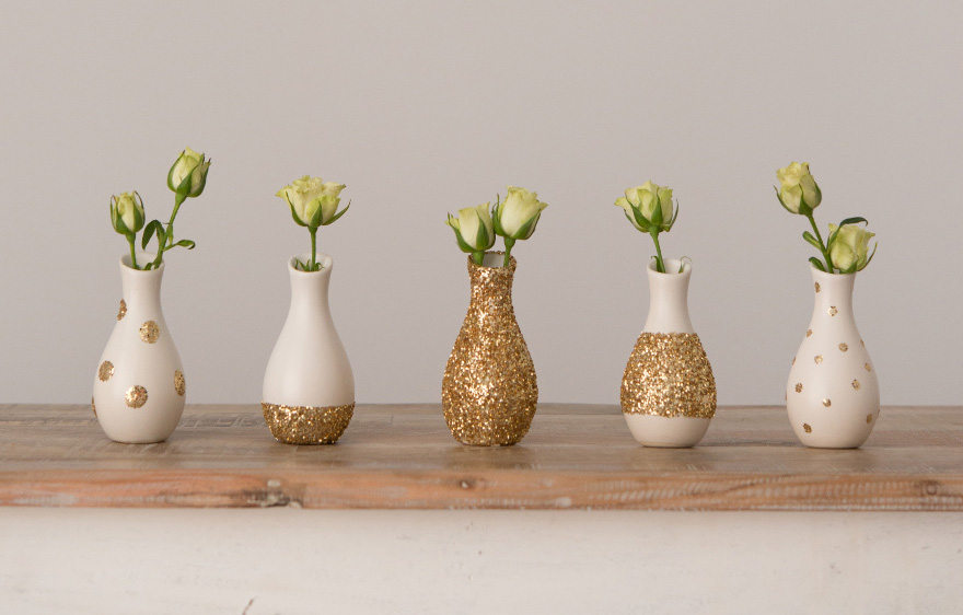 DIY Glitter Vases | Confetti.co.uk
