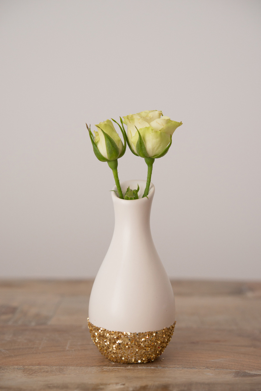 Gold Glitter Base Vase | Confetti.co.uk