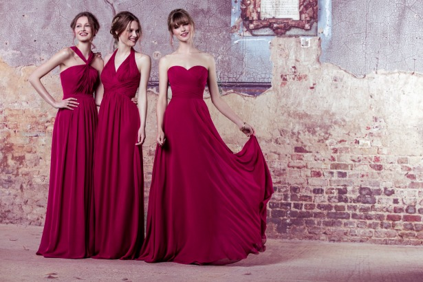 Kelsey Rose cerise pink bridesmaids dresses | Confetti.co.uk