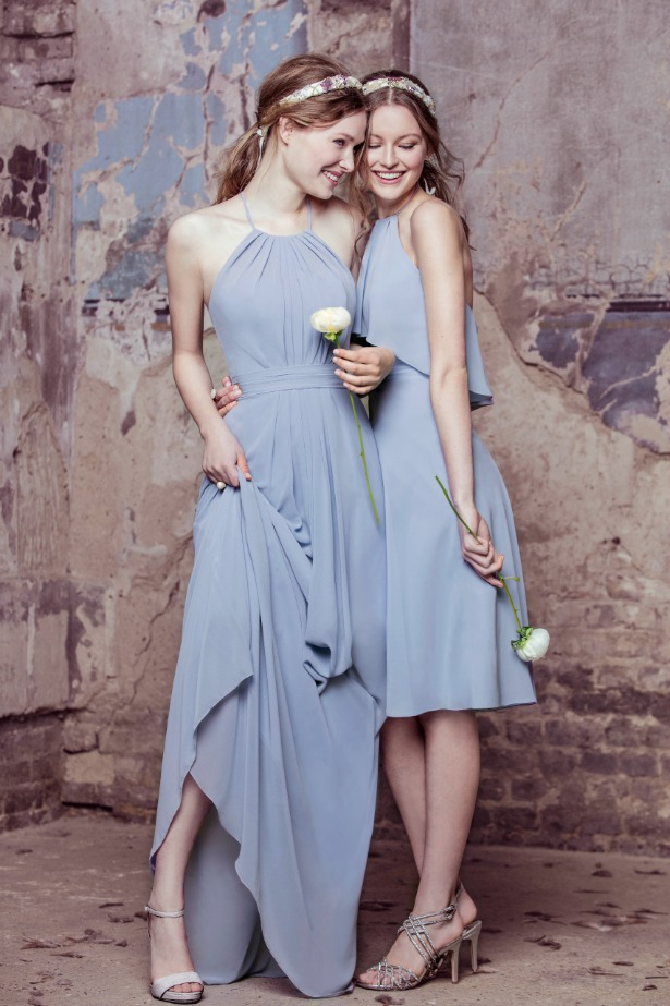 Kelsey Rose powder blue bridesmaids dresses | Confetti.co.uk