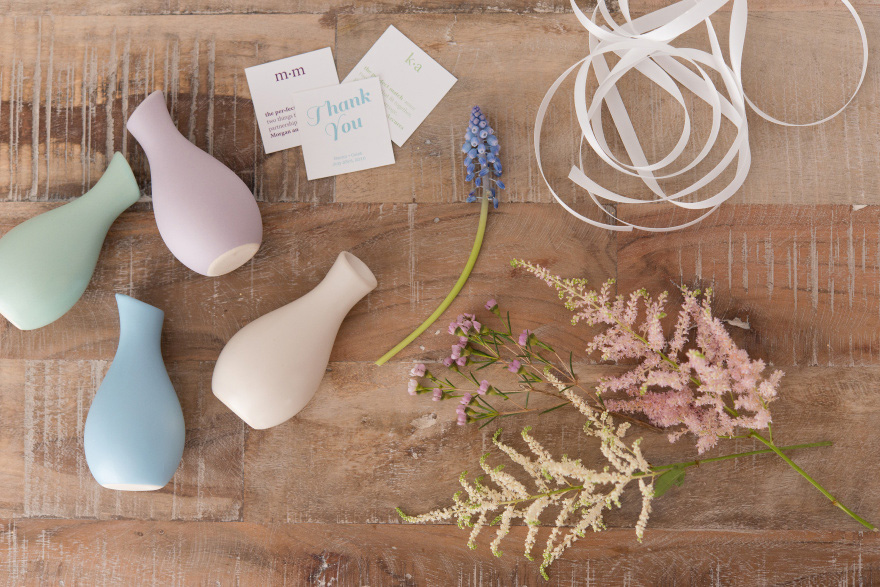 Pastel Mini Vases | Confetti.co.uk