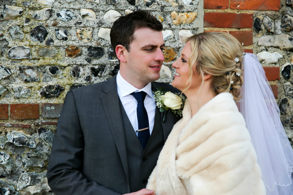 Bride And Groom Stare Lovingly Into Each Others Eyes | Confetti.co.uk