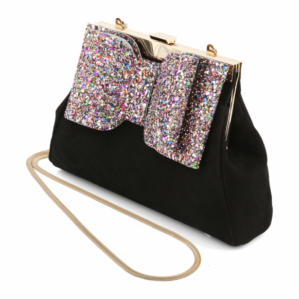 Clara Black Clutch Bag From Charlotte Mills | Confetti.co.uk