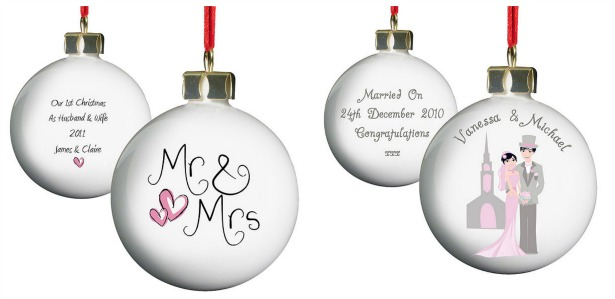 Personalised-Christmas bauble gift | Confetti.co.uk