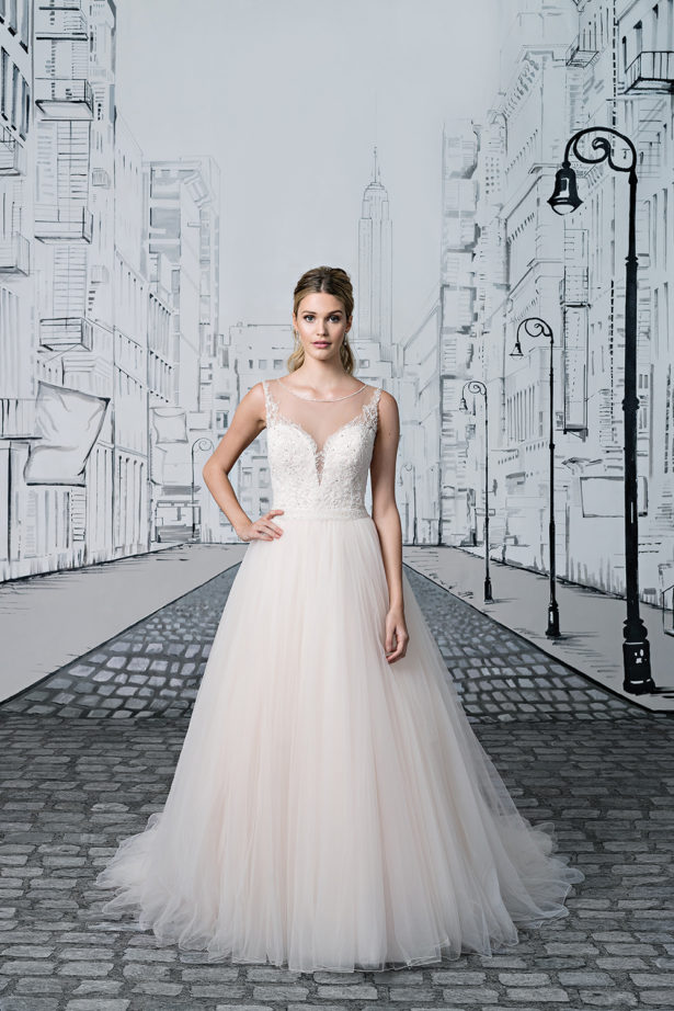 Illusion Back and Neckline By Justin Alexander Style 8886 | Confetti.co.uk