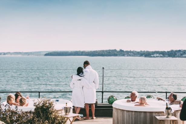 Hot tubs with a view at No Mans Fort | Confetti.co.uk