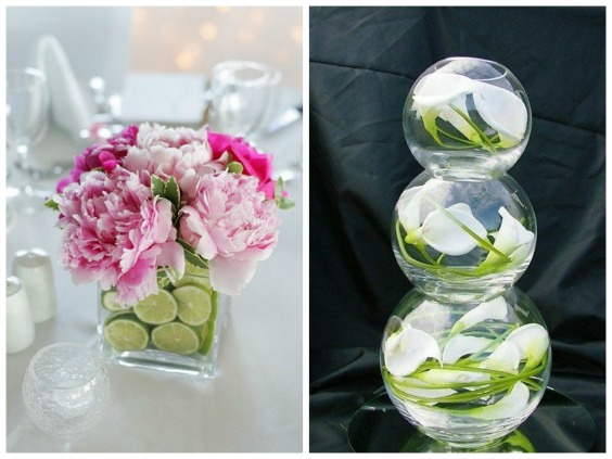 Solavia glass ,floral-filled centriepiece ideas | Confetti.co.uk
