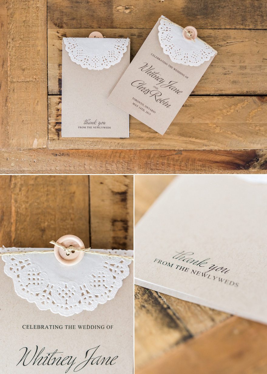 DIY Vintage Rustic Wedding Stationery - Simple Buttons and Twine and Lace Effect Paper Doilies DIY Wedding Invitations | Confetti.co.uk