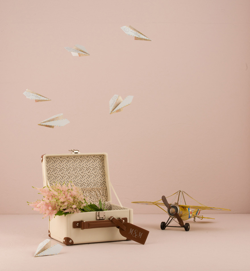 Paper Airplane Wedding Stationery | Confetti.co.uk