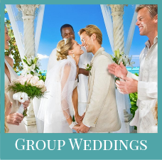 Sandals group weddings colour