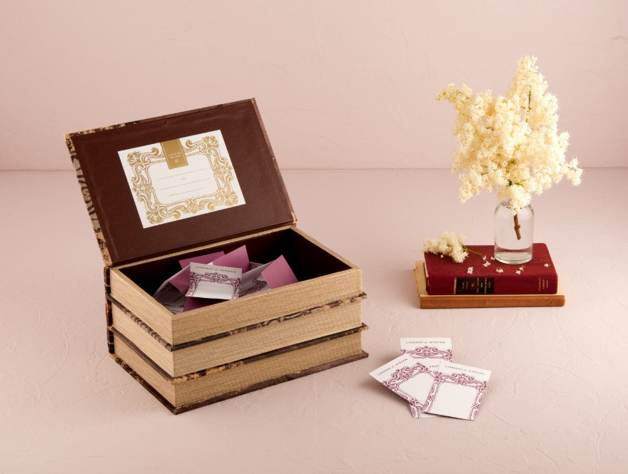 Antique book box wishing well | Confetti.co.uk