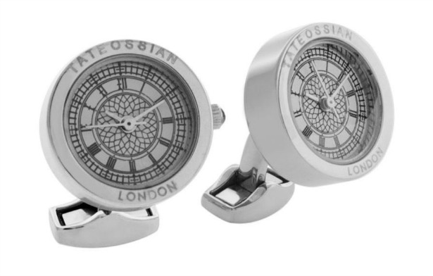 Stainless steel plated cufflinks by Tateossian   Confetti.co.uk