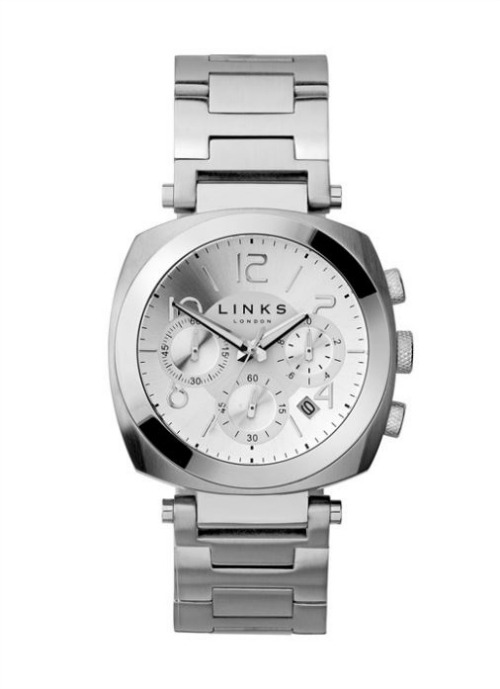 Brompton white dial chronograph watch by Links of London   Confetti.co.uk