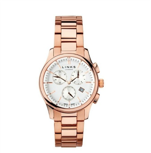 Regent rose gold plated chronograph watch by Links of London   Confetti.co.uk