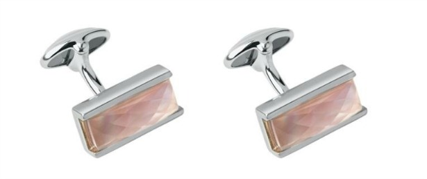 Pink mother of pearl cufflinks by Links of London   Confetti.co.uk