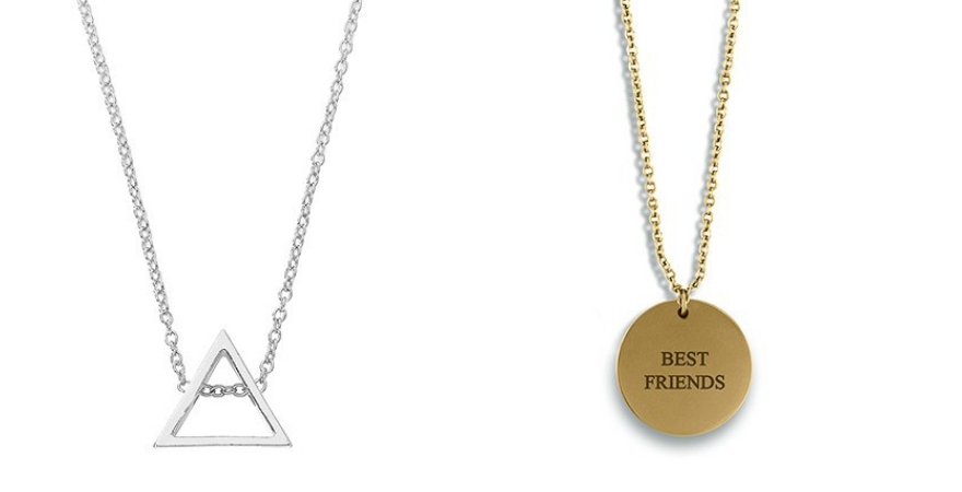 Best friend necklaces for Galentine's Day