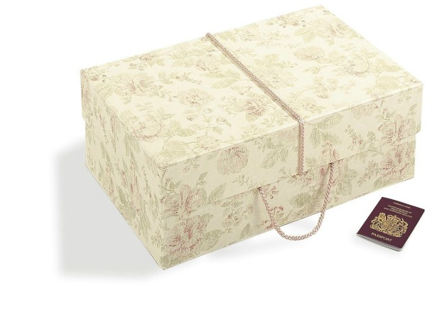 Antique style pink wedding dress storage box | Confetti.co.uk