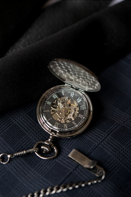 Gifts For Him - Gunmetal Mechanical Pocket Watch