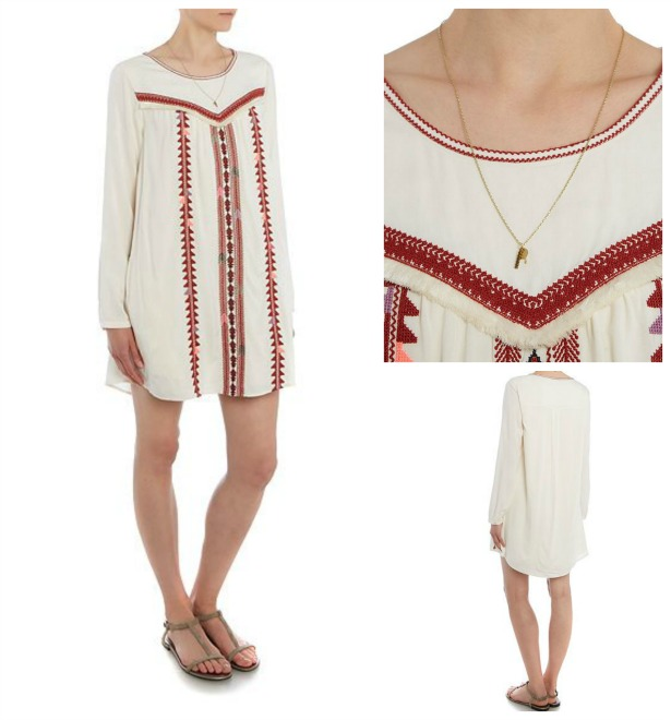Long Sleeved embroidered dress by Maison Scotch | Confetti.co.uk