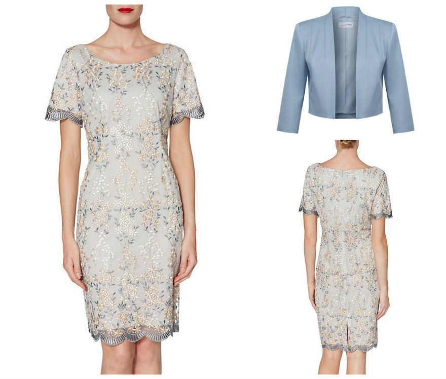 Embroidered Janice dress and jacket at John Lewis | Confetti.co.uk
