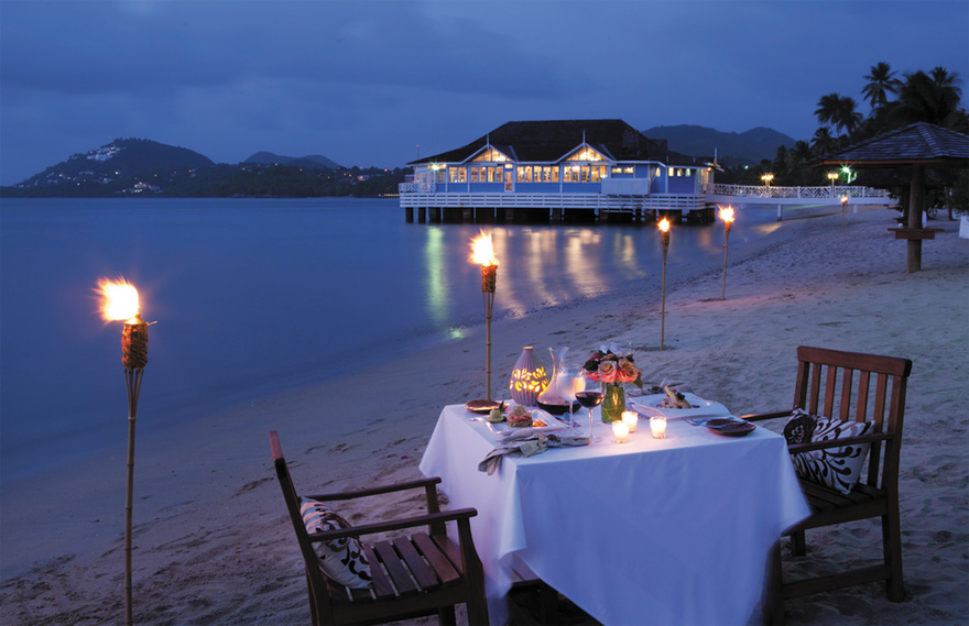 Sandals Halcyon Beach St Lucia Dining - Saint Lucia Caribbean Hotel | Confetti.co.uk