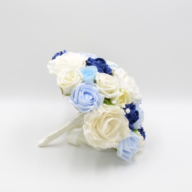 A bridal bouquet of roses in artifical flowers by Petals Polly | Confetti.co.uk