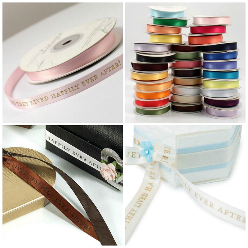Happily ever after ribbon in a range of colours | Confetti.co.uk
