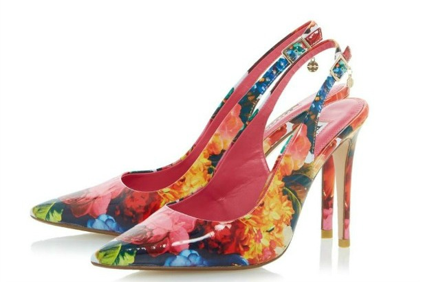 Floral print slingbacks by Dune | Confetti.co.uk