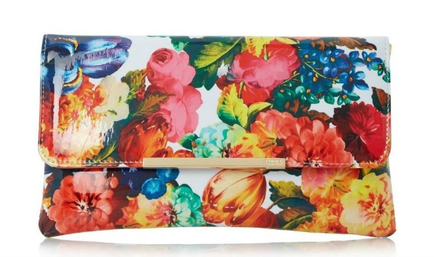 Floral print clutch bag by Dune | Confetti.co.uk