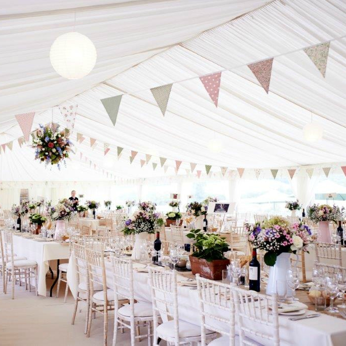 Wedding Marquee Bunting by Richardson Marquees | Confetti.co.uk