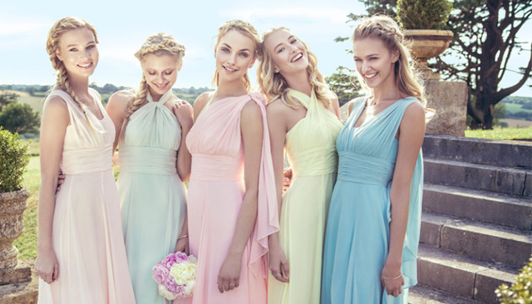 Cost Saving Tips for Bridesmaids - Pastel Bridesmaid Dresses | Confetti.co.uk
