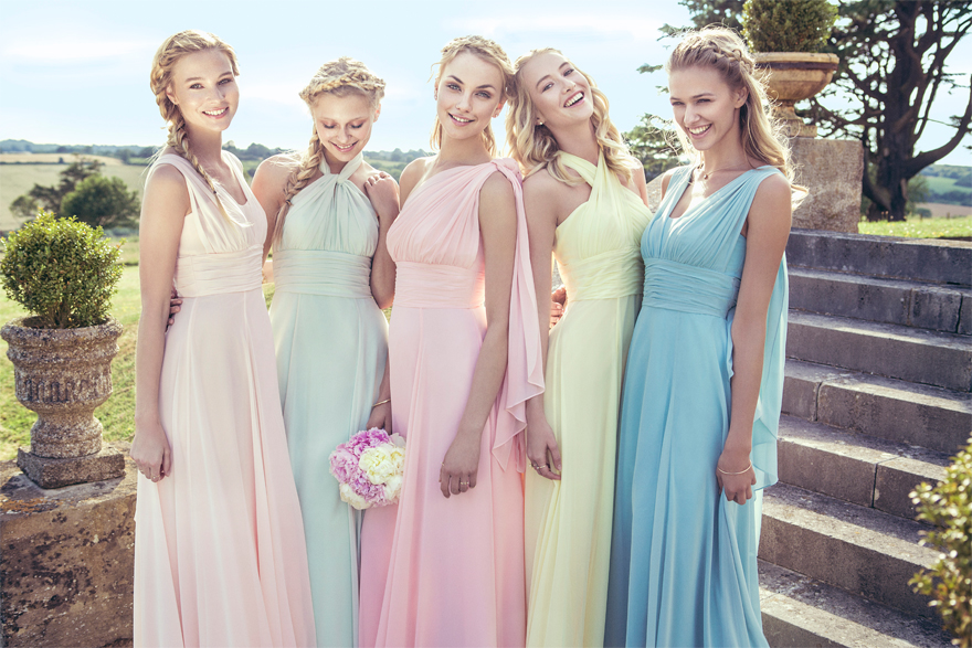 Pastel multiway bridesmaid dress by Kelsey Rose - Style 50116 | Confetti.co.uk