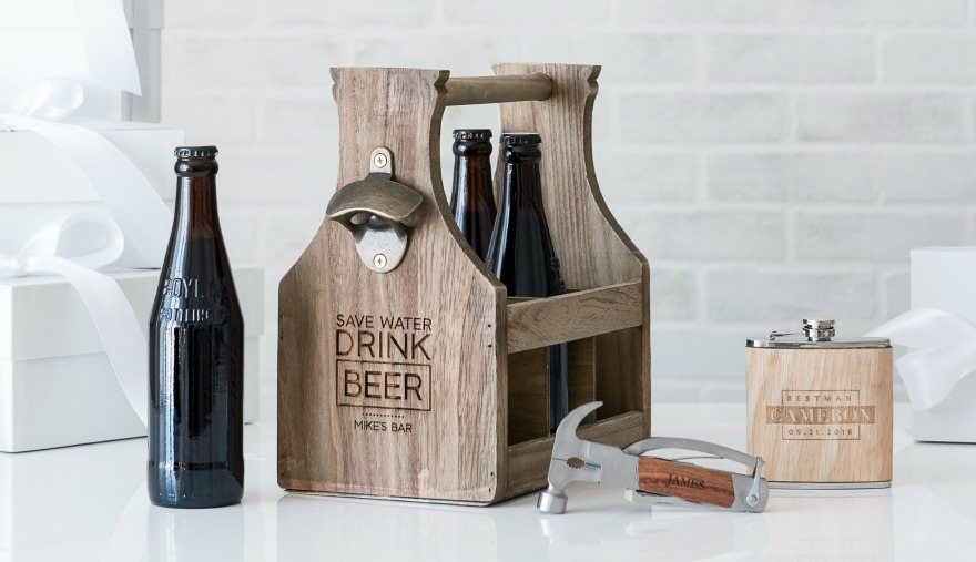 Best Father's Day gift ideas wooden beer bottle caddy with opener | Confetti.co.uk