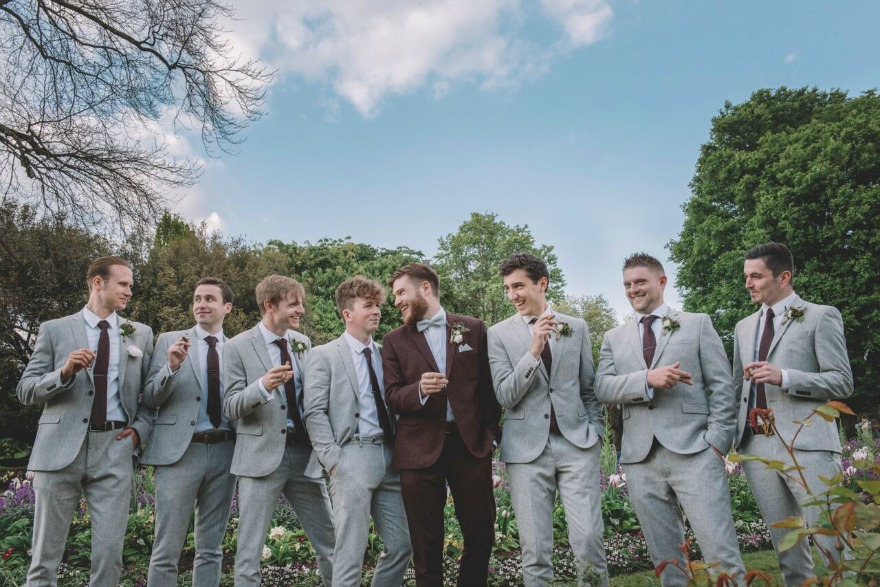 Groom and his men at Kristina and Max's Real Wedding at Westminter Abbey | Confetti.co.uk
