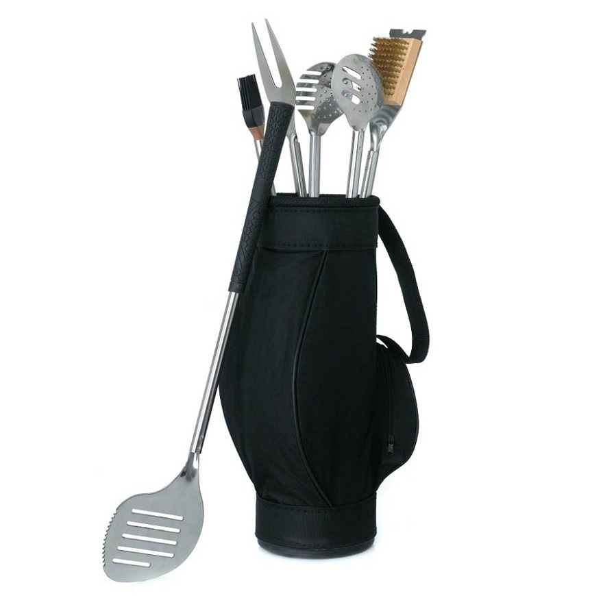 Father of the bride gifts Barbeque tools in golf bag | Confetti.co.uk