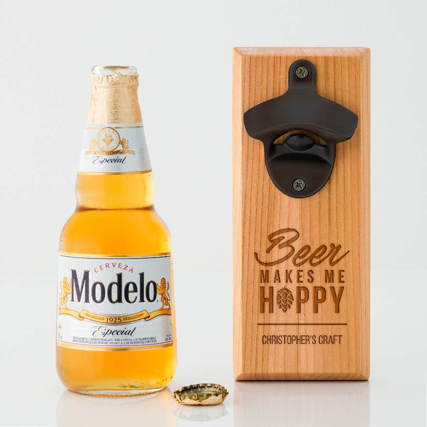 Father of the bride gifts wall mounted bottle opener | Confetti.co.uk