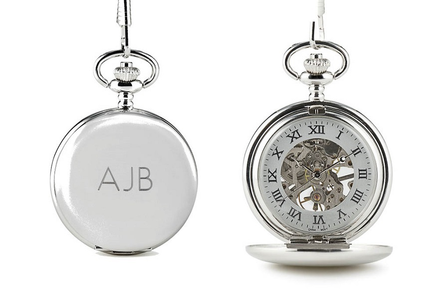 Father of the bride gifts mechanical pocket watch | Confetti.co.uk