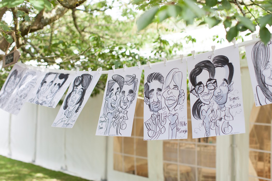 Warble Entertainment wedding caricatures - Win Your Dream Wedding 2018