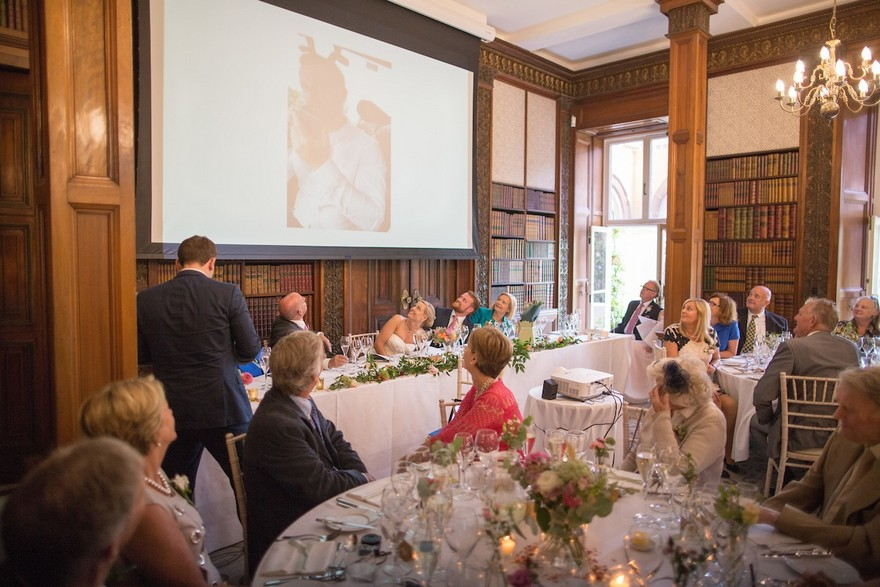 Top table at Jessica and Ed's wedding at Clevedon Hall | Confetti.co.uk
