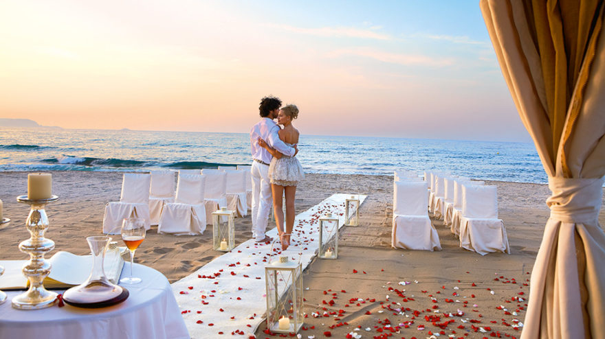 Rose peal beach wedding with Greek Dream Planners | Confetti.co.uk