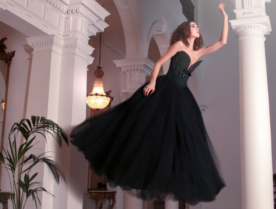 Black wedding dress by Chantal Mallett Couture | Confetti.co.uk