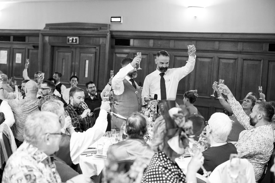 Islington Assembly Hall Wedding Reception Toast and Speeches | Confetti.co.uk