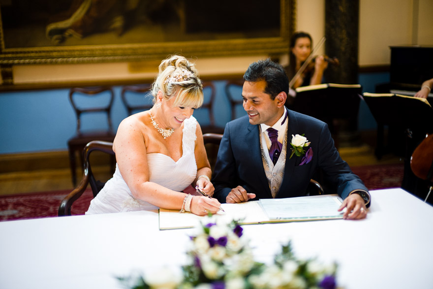 Elizabeth and Pinak's wedding by Douglas Fry Photography | Confetti.couk