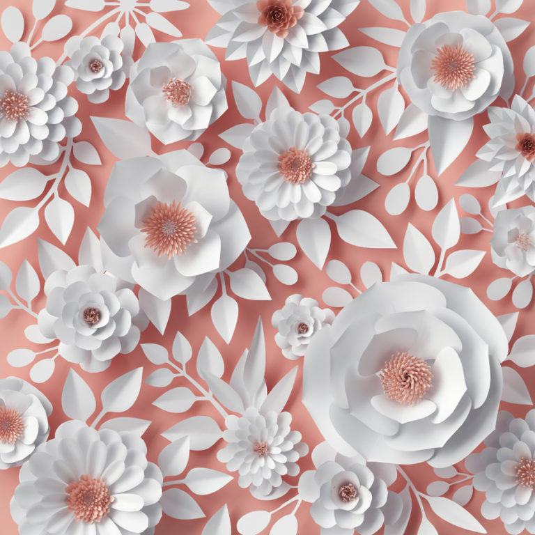 Blush Pink and White Creative Wedding Paper Flowers Inspiration | Confetti.co.uk