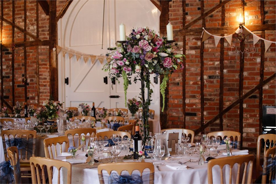 The Coach House at Marks Hall Rustic Wedding Reception Tables And Centrepieces | Confetti.co.uk