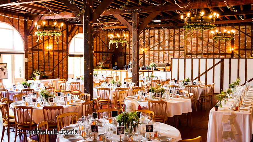The Coach House at Marks Hall Rustic Wedding Venue with Exposed Timbers and Stone Walls | Confetti.co.uk